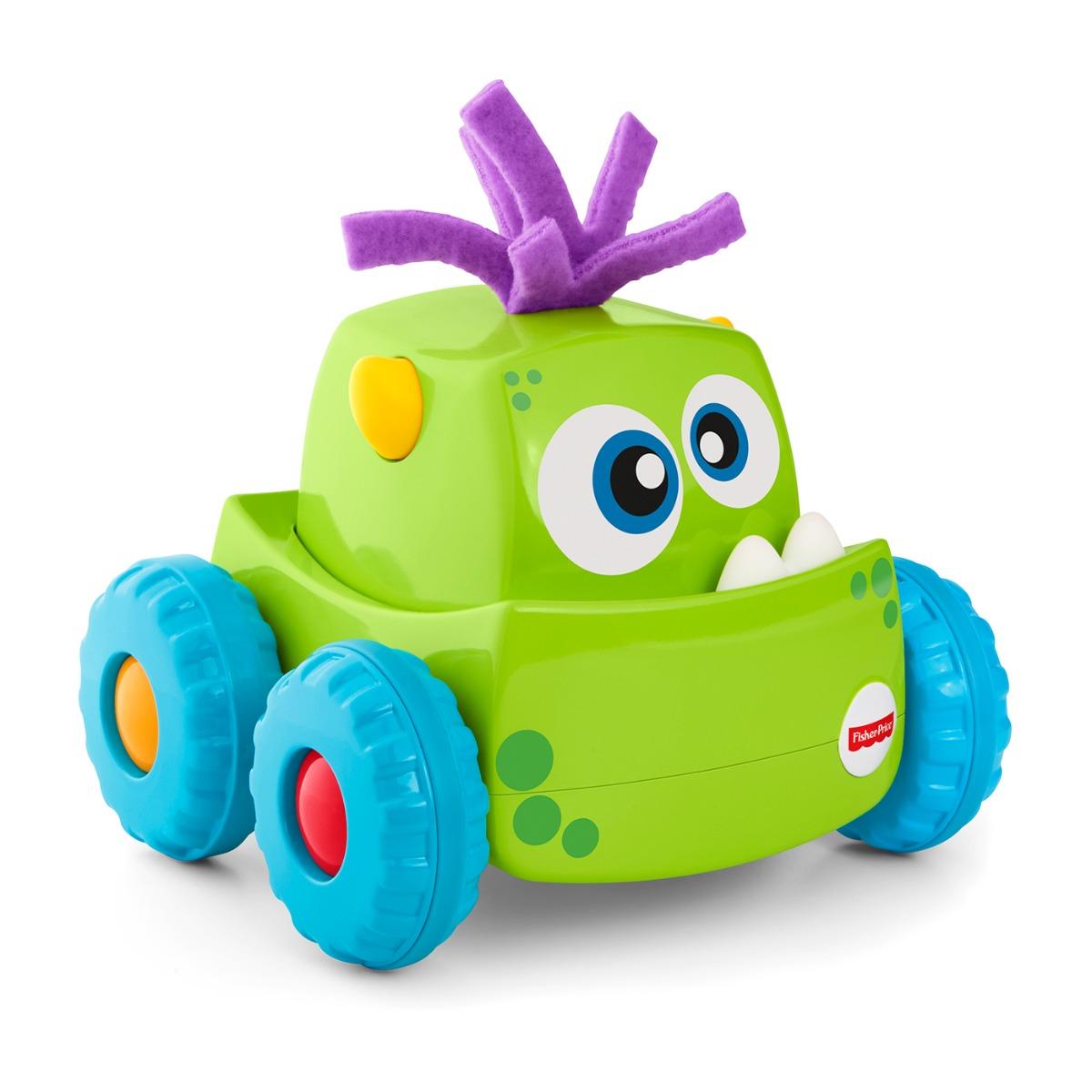 jucarie pentru bebelusi masinuta monstrulet fisher price