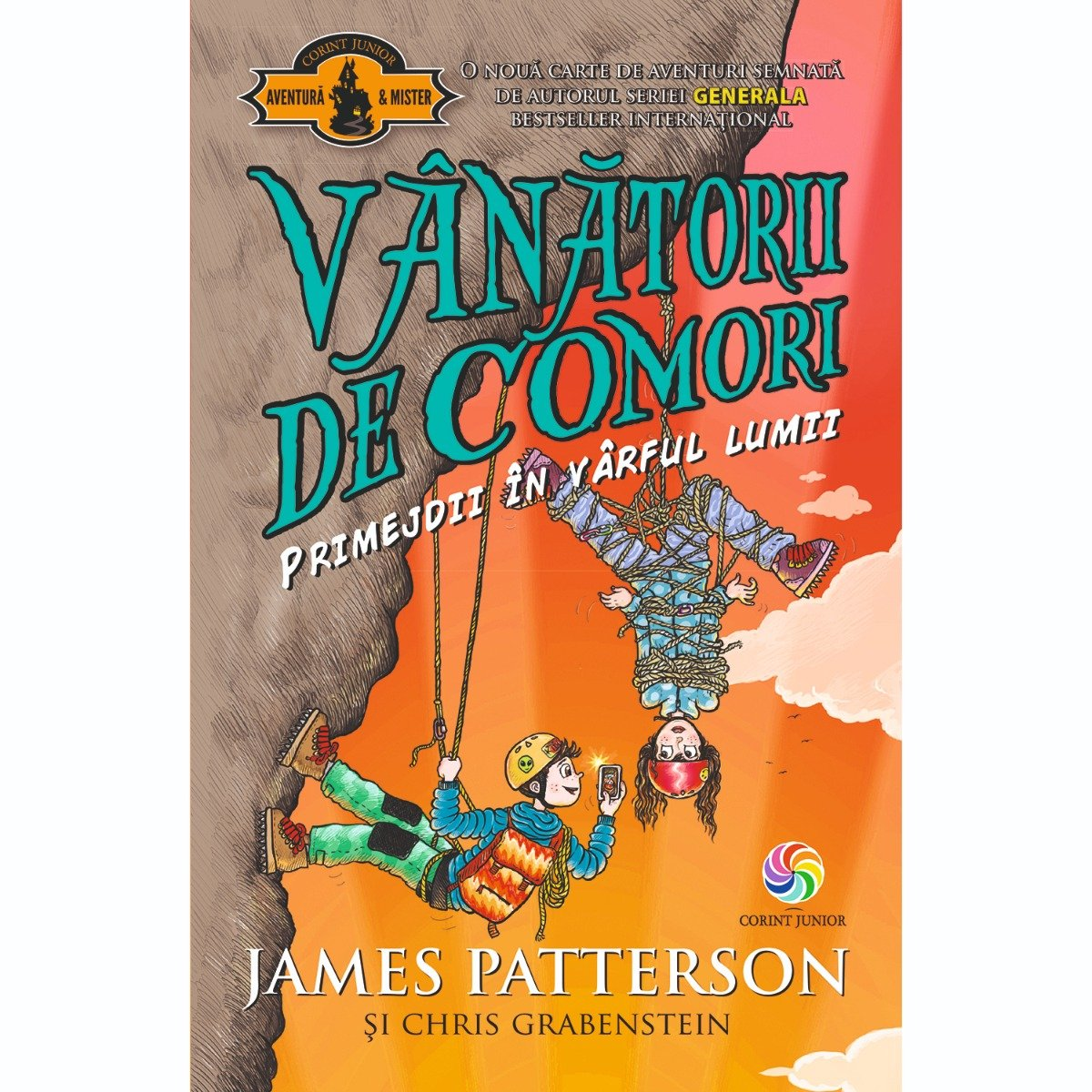 Carte Editura Corint, Vanatorii de comori vol. 4 Primejdii in varful lumii, James Patterson, Chris Grabenstein