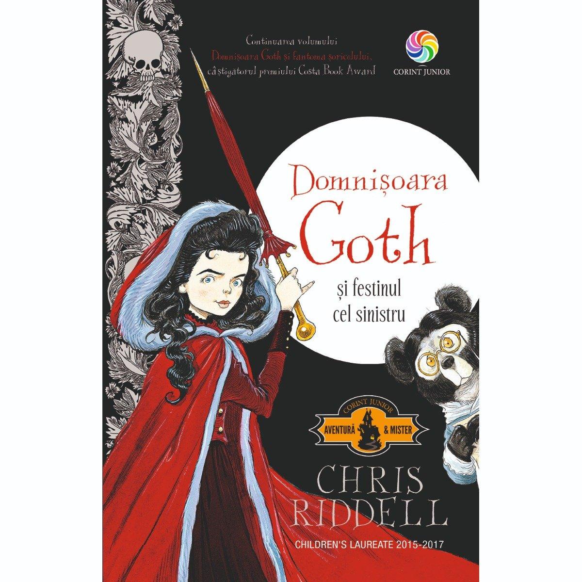 Carte Editura Corint, Domnisoara Goth si festinul cel sinistru, Chris Riddell