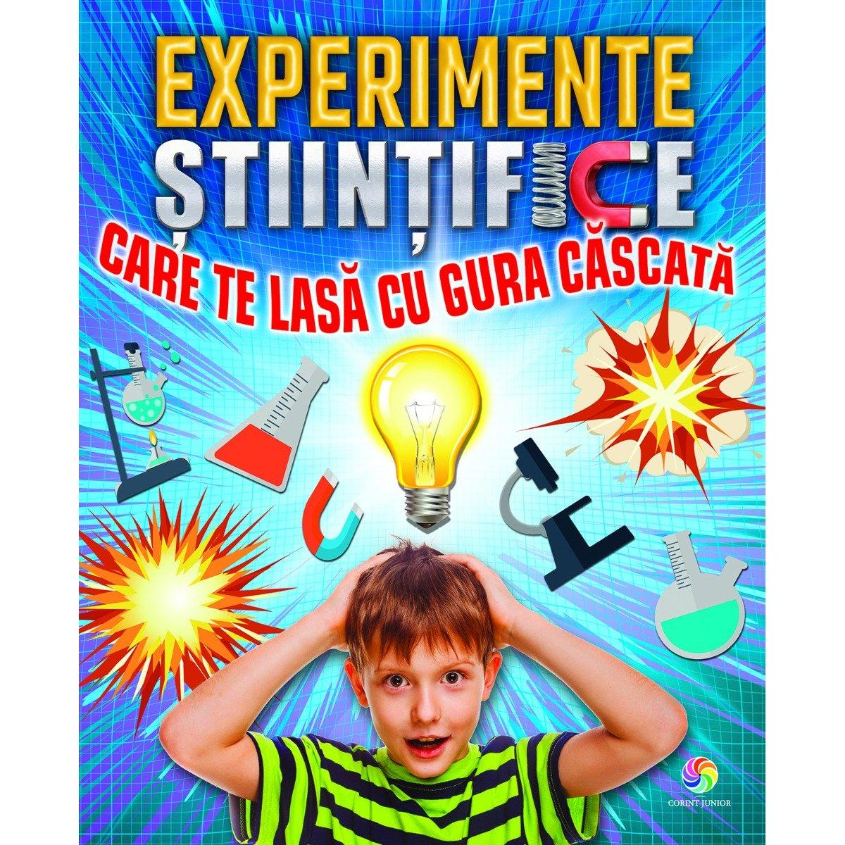 Carte Editura Corint, Experimente stiintifice care te lasa cu gura cascata, Thomas Canavan