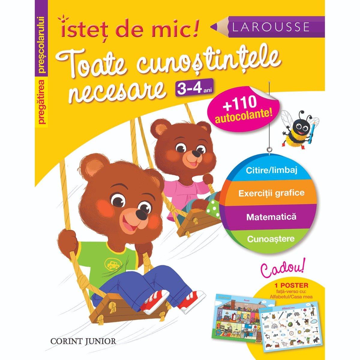 Carte Editura Corint, Istet de mic! Pregatirea prescolarului. Toate cunostintele necesare 3-4 ani, Guy Blandino