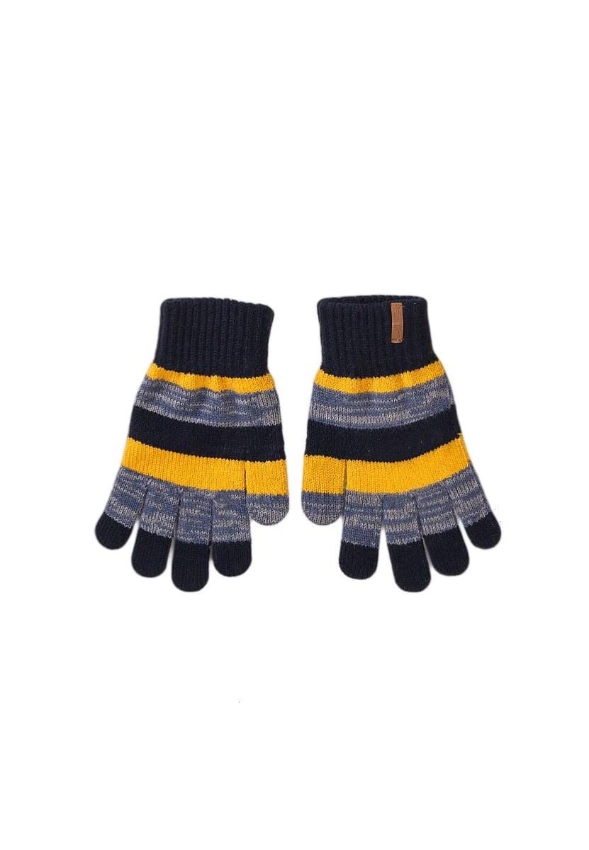 Manusi tricotate, model cu dungi Minoti, KB GLOVE