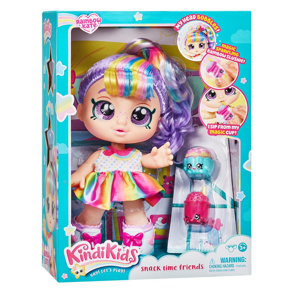 Papusa cu accesorii Kindi Kids, Rainbow Kate