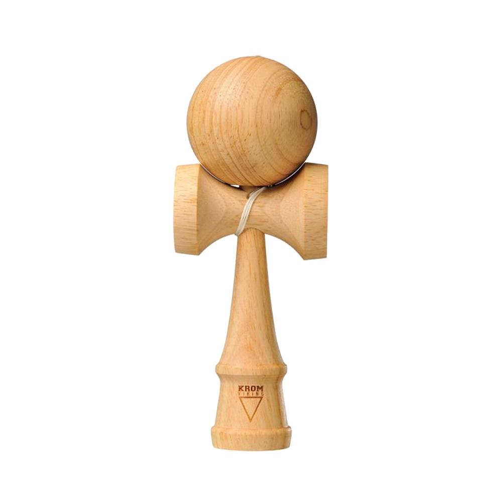 krom kendamas deluxe viking v3 rubber wood natural