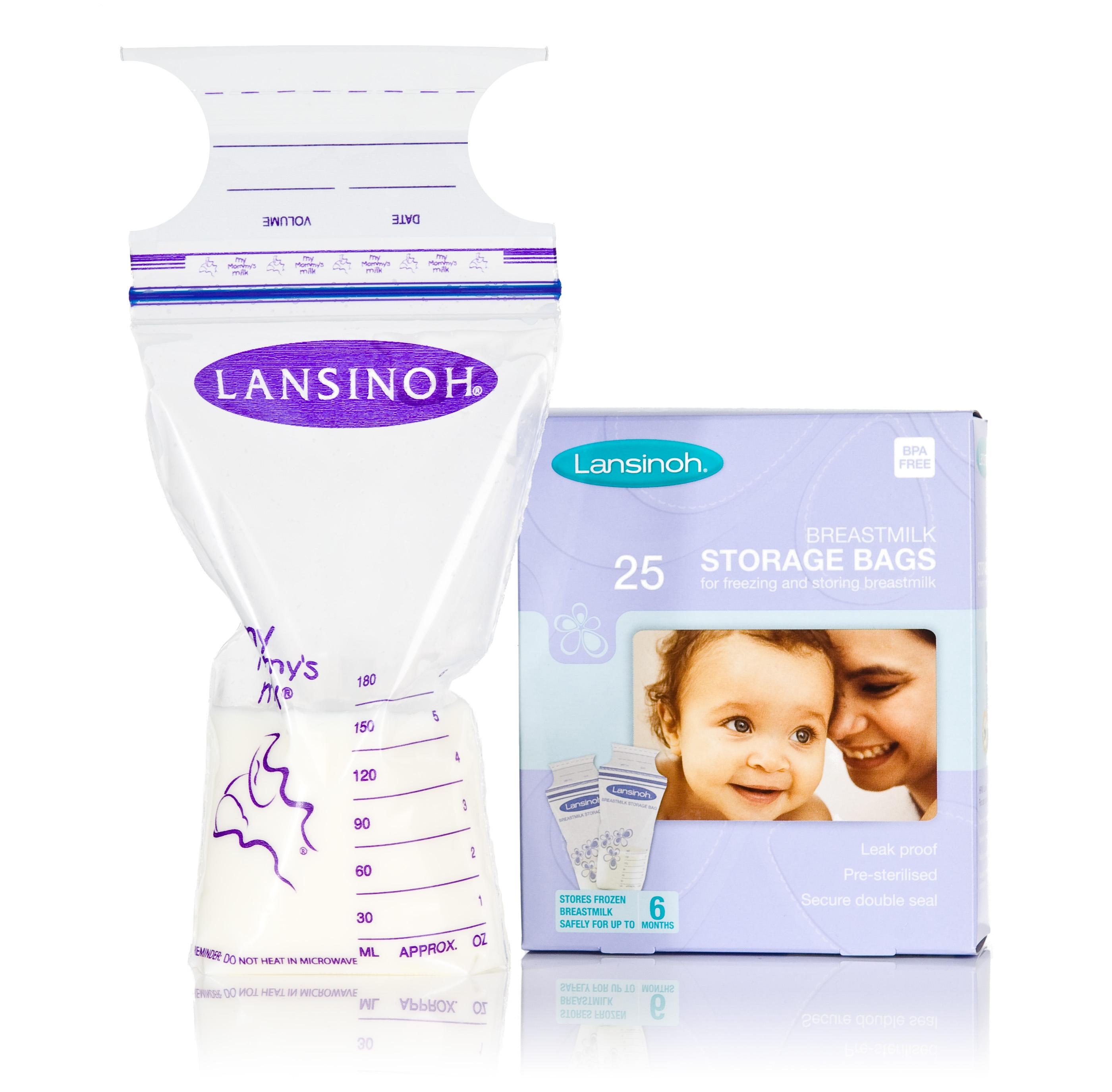 pungi de stocare a laptelui matern lansinoh, 25 buc