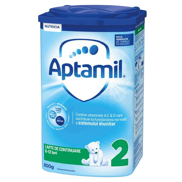Lapte praf Nutricia Aptamil 2, 800 g, 6-12 luni imagine