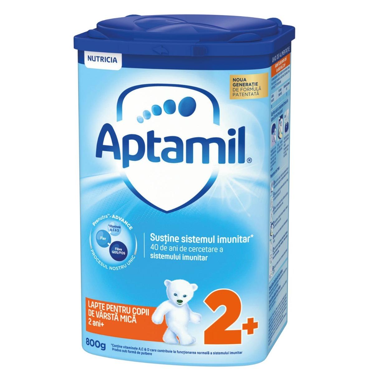 Lapte praf Nutricia Aptamil Junior 2+, 800 g, 24-36 luni