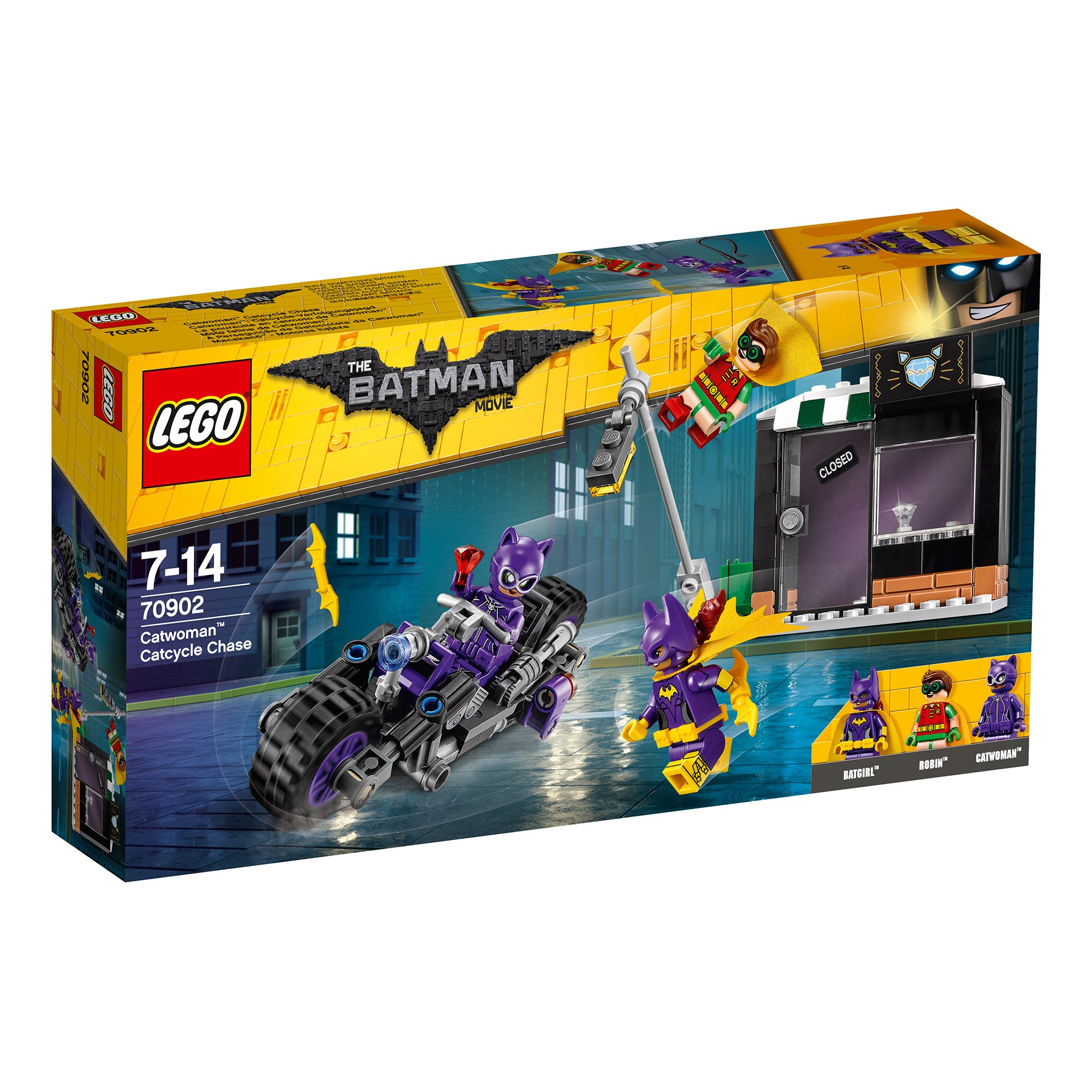 lego® batman movie 70902 - catwoman si urmarirea in catcycle