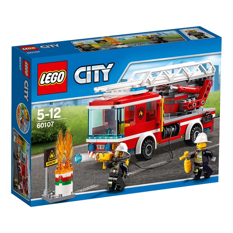 lego® city - camion de pompieri cu scara (60107)