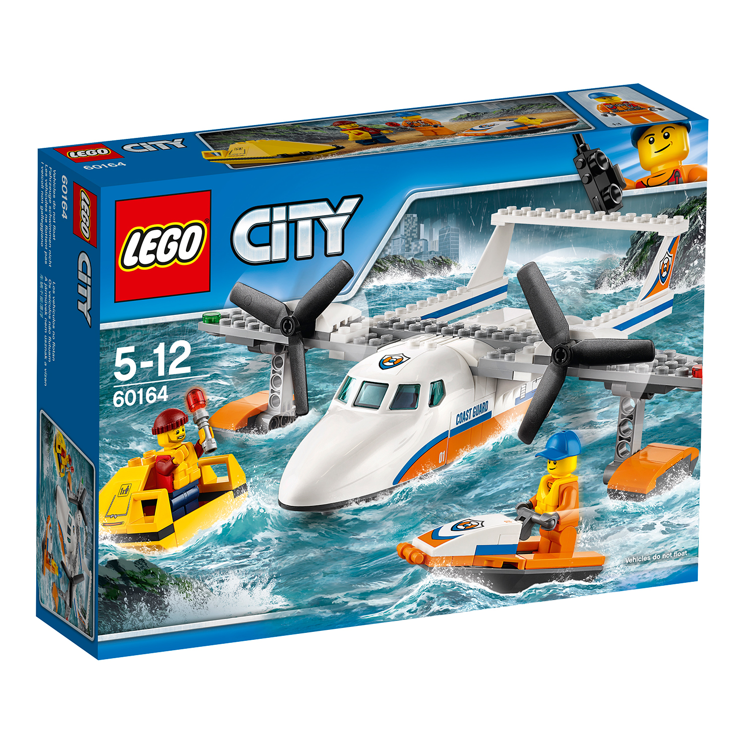 lego® city coast guard - avion de salvare pe mare (60164)
