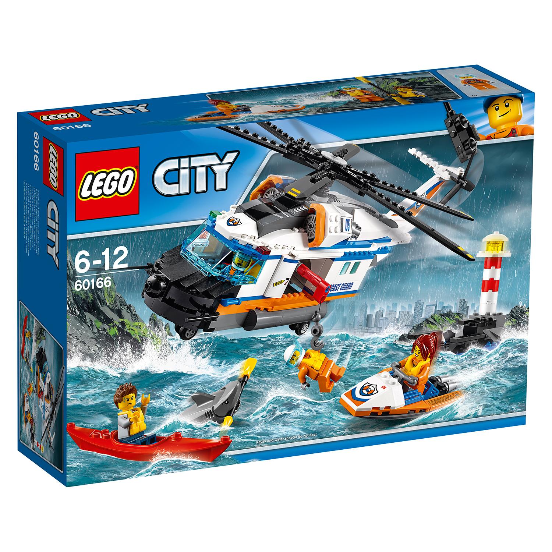 lego® city coast guard - elicopter de salvare pentru conditii grele (60166)