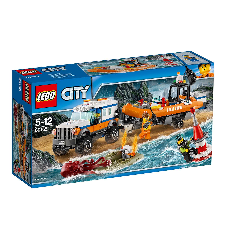 lego® city coast guard - unitatea de interventie 4 x 4 (60165)