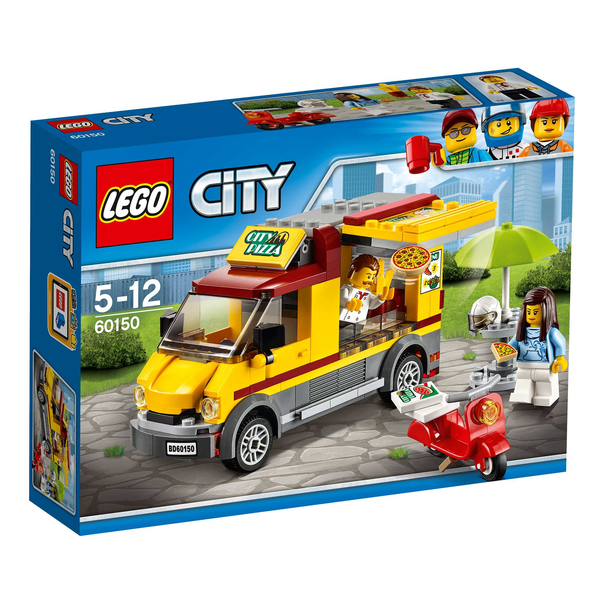 lego® city great vehicles - furgoneta de pizza (60150)