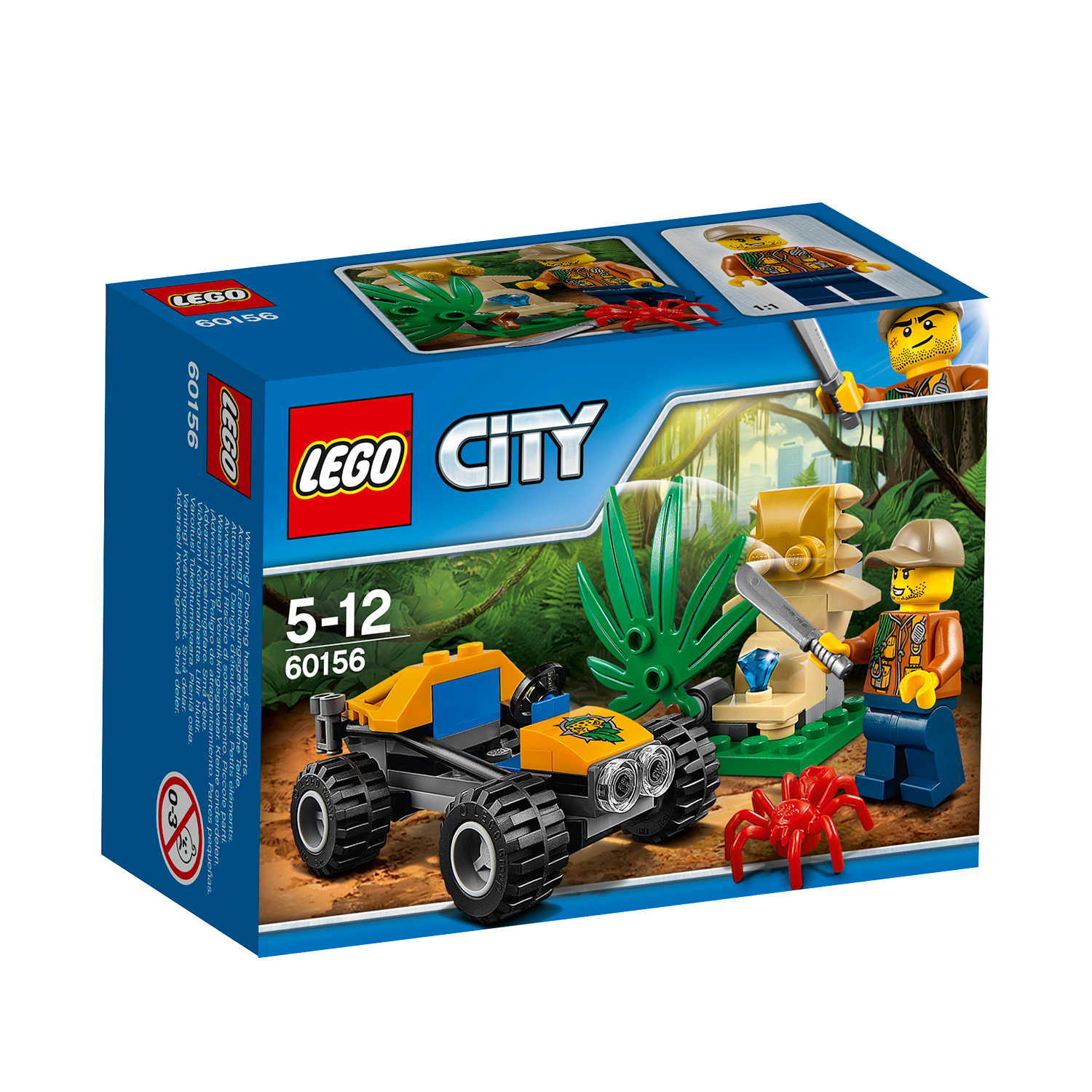 lego® city jungle explorers - automobil de jungla (60156)