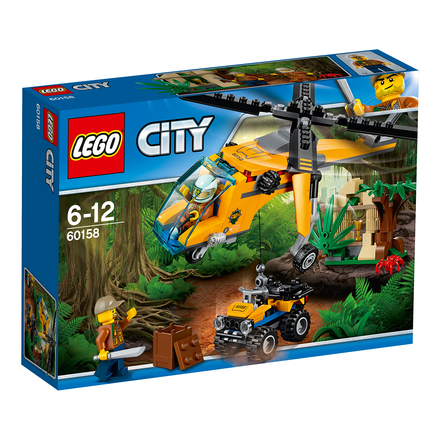 lego® city jungle explorers - elicopter de marfa in jungla (60158)