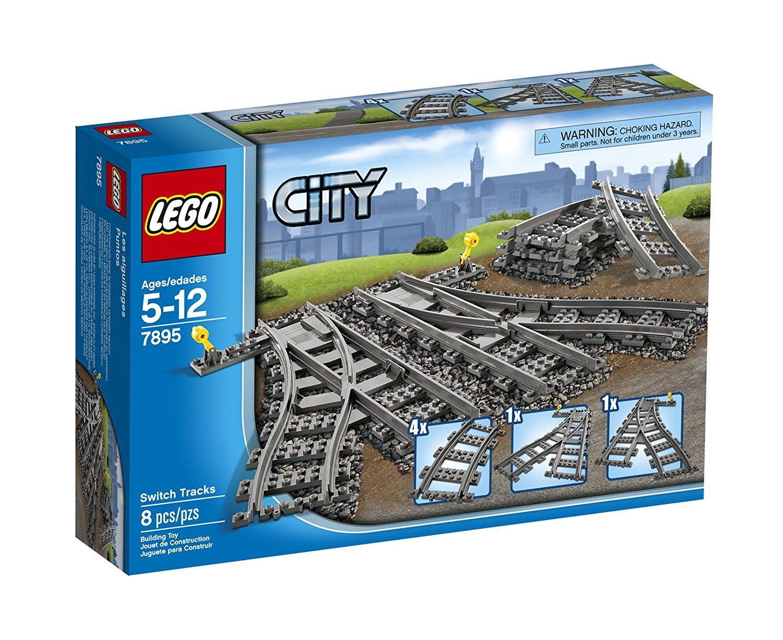lego® city - macaz pentru calea ferata (7895)