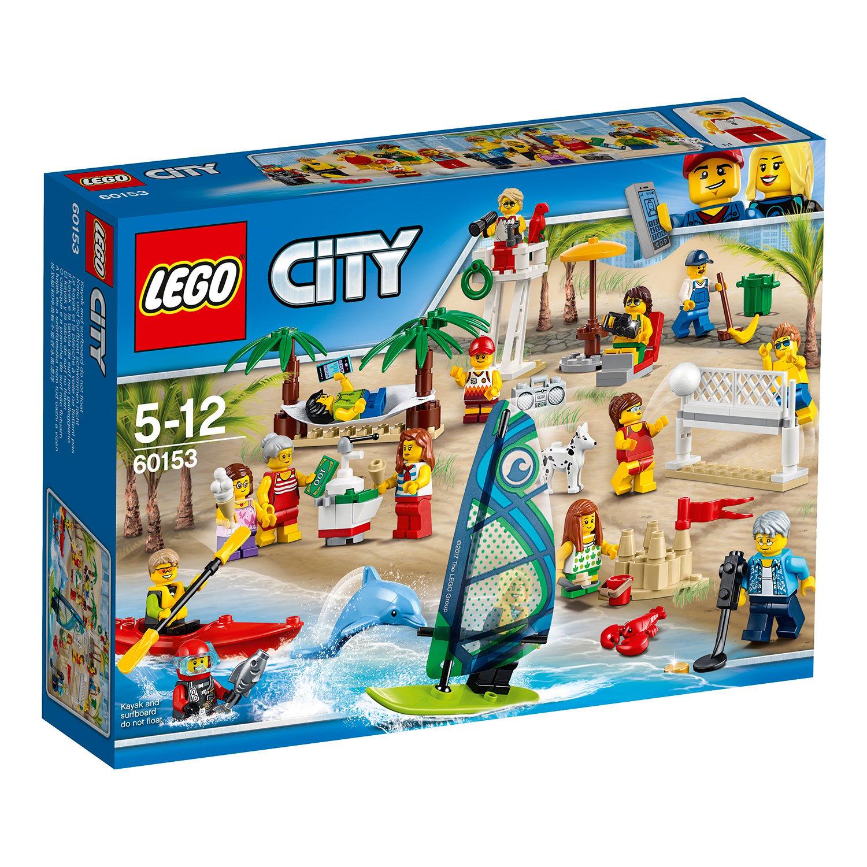lego® city town - comunitatea orasului. distractie la plaja (60153)