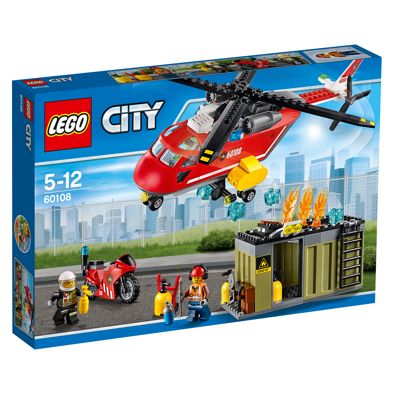lego® city - unitatea de interventie de pompieri (60108)