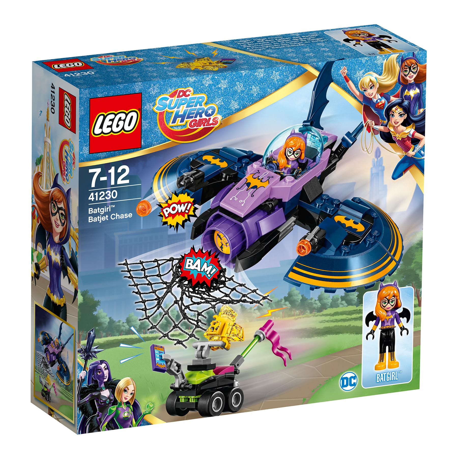 lego® dc super hero girls 41230 - batgirl urmarirea cu batjet