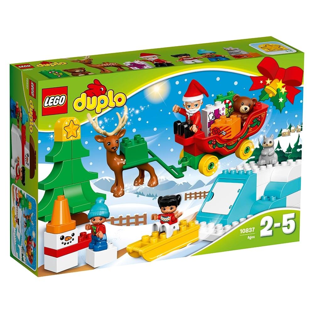 lego® duplo® town - vacanta de iarna cu mos craciun (10837)