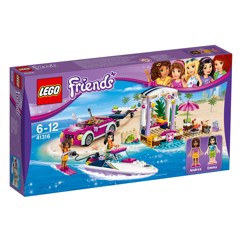 lego® friends - barca transportoare cu motor a andreei (41316)