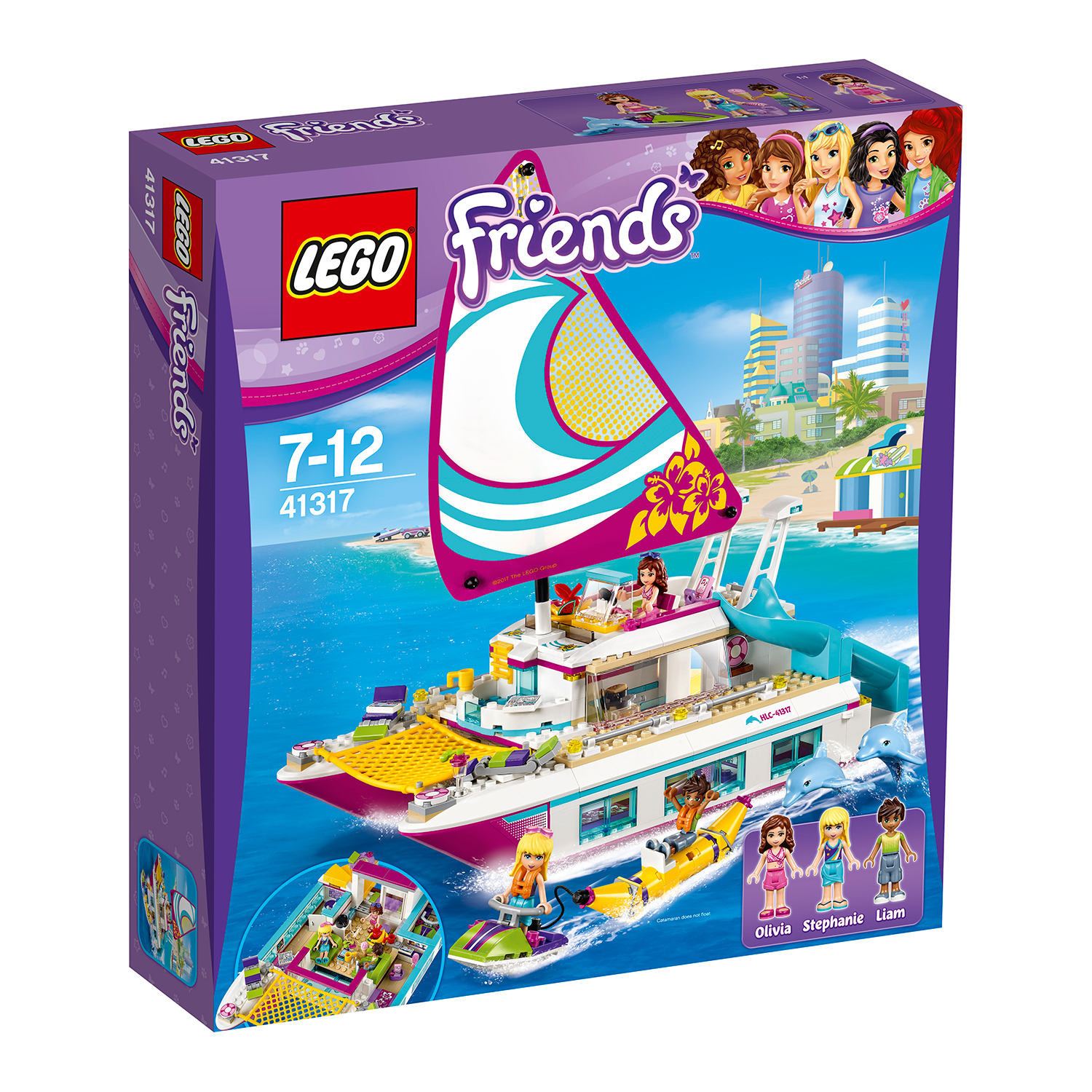 lego® friends - croaziera insorita pe catamaran (41317)