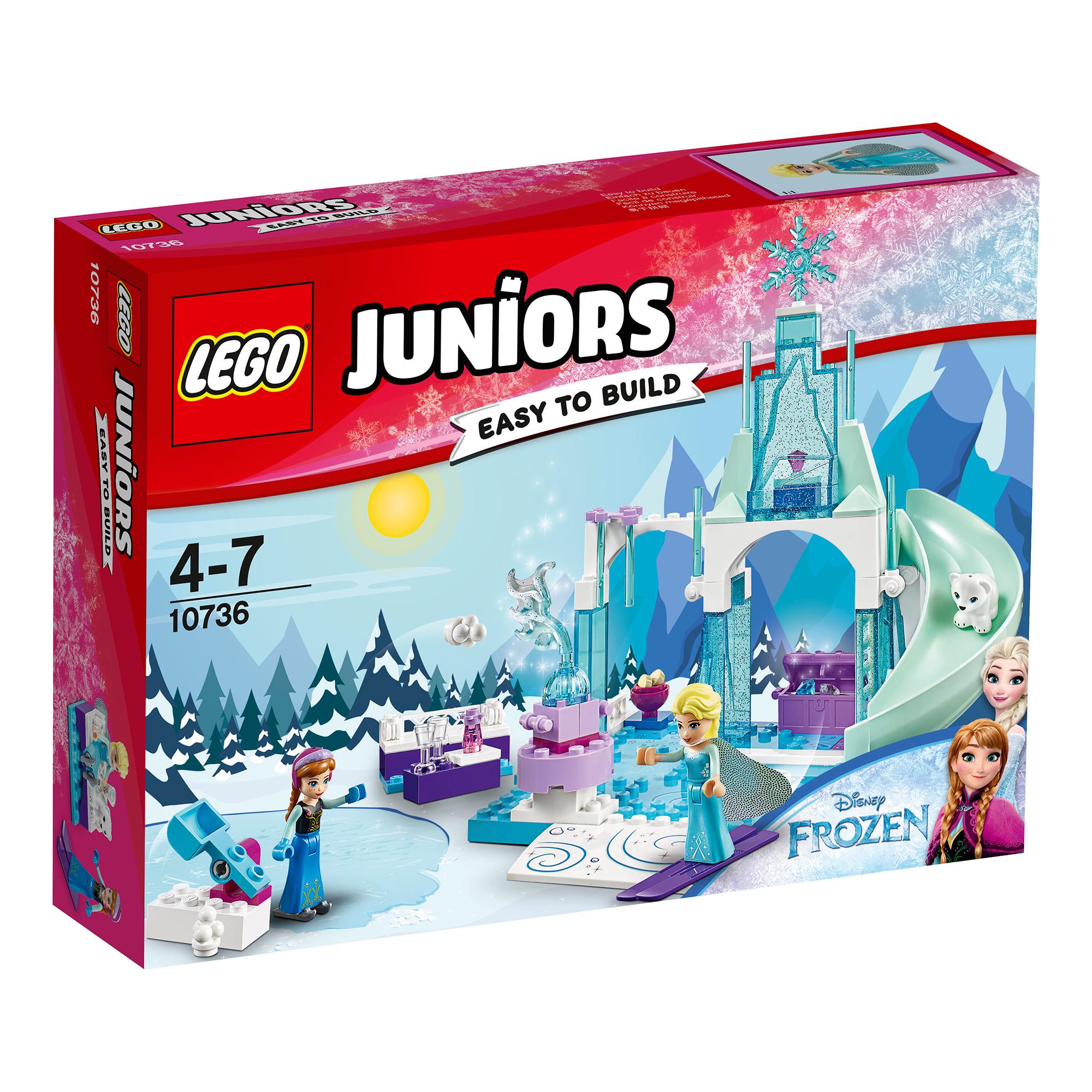 lego® juniors - anna si elsa la locul de joaca (10736)