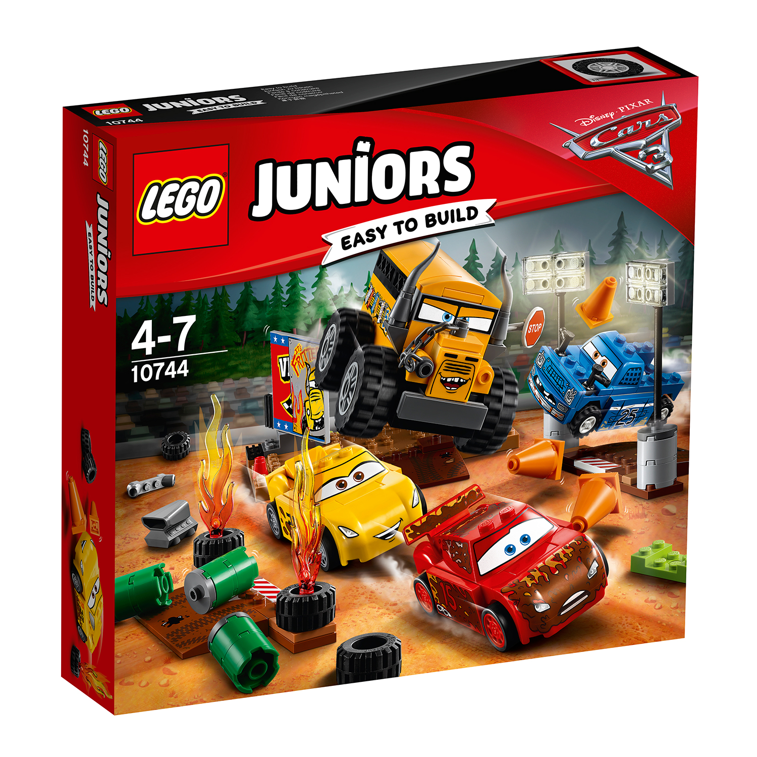 lego® juniors - cursa nebuneasca de la thunder hollow (10744)