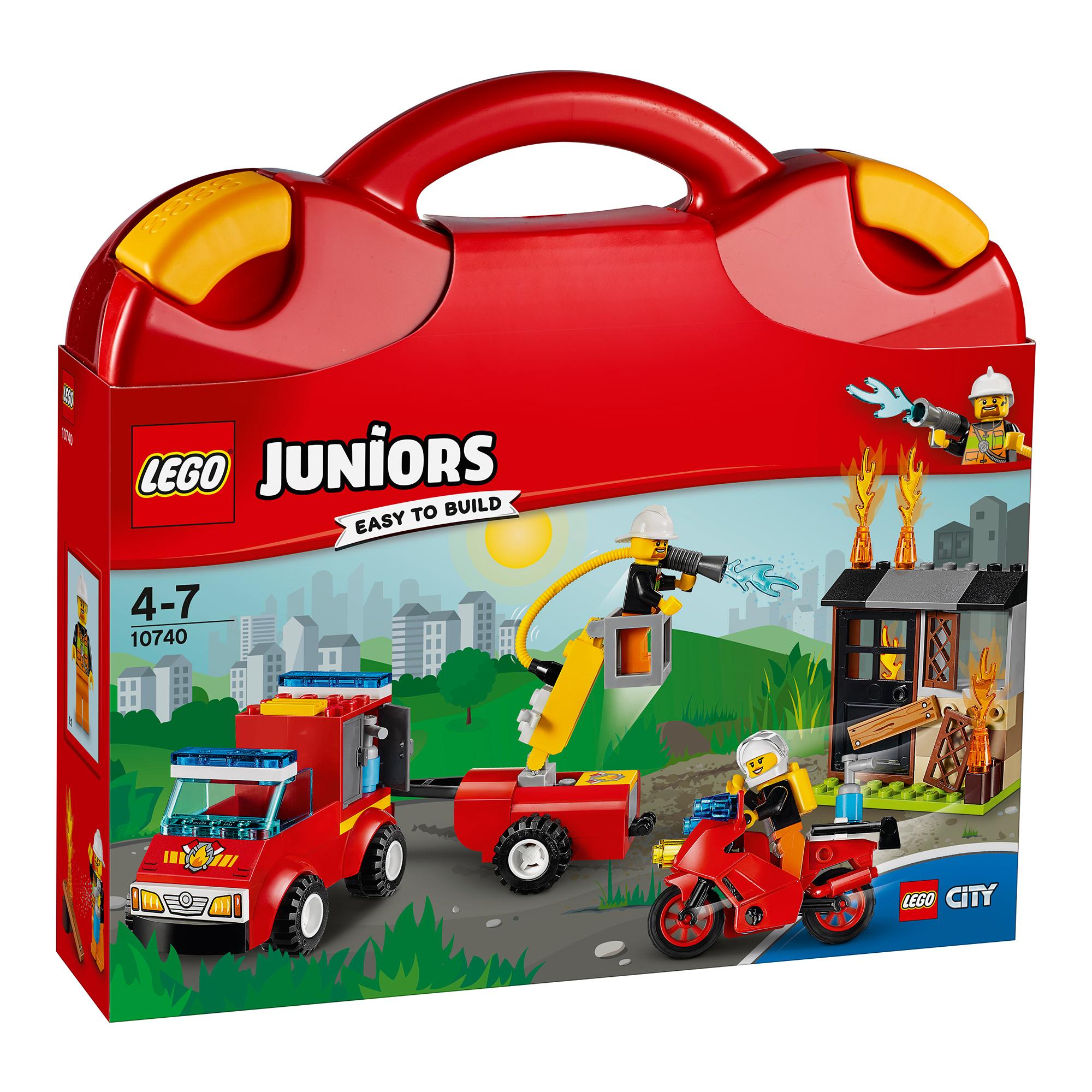 lego® juniors - valiza patrula de pompieri (10740)