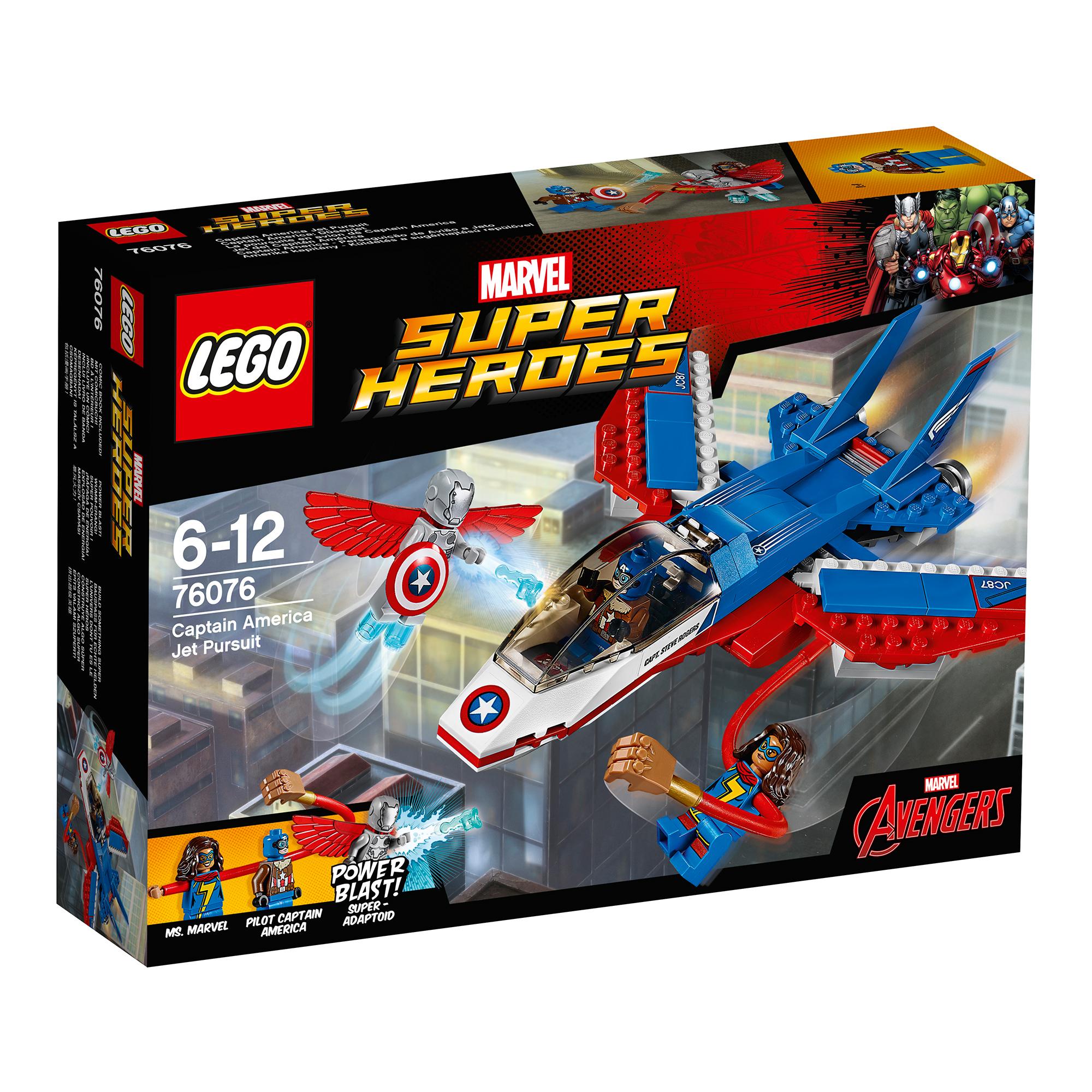 LEGO® Marvel Super Heroes - Capitanul America si urmarirea avionului cu reactie (76076)