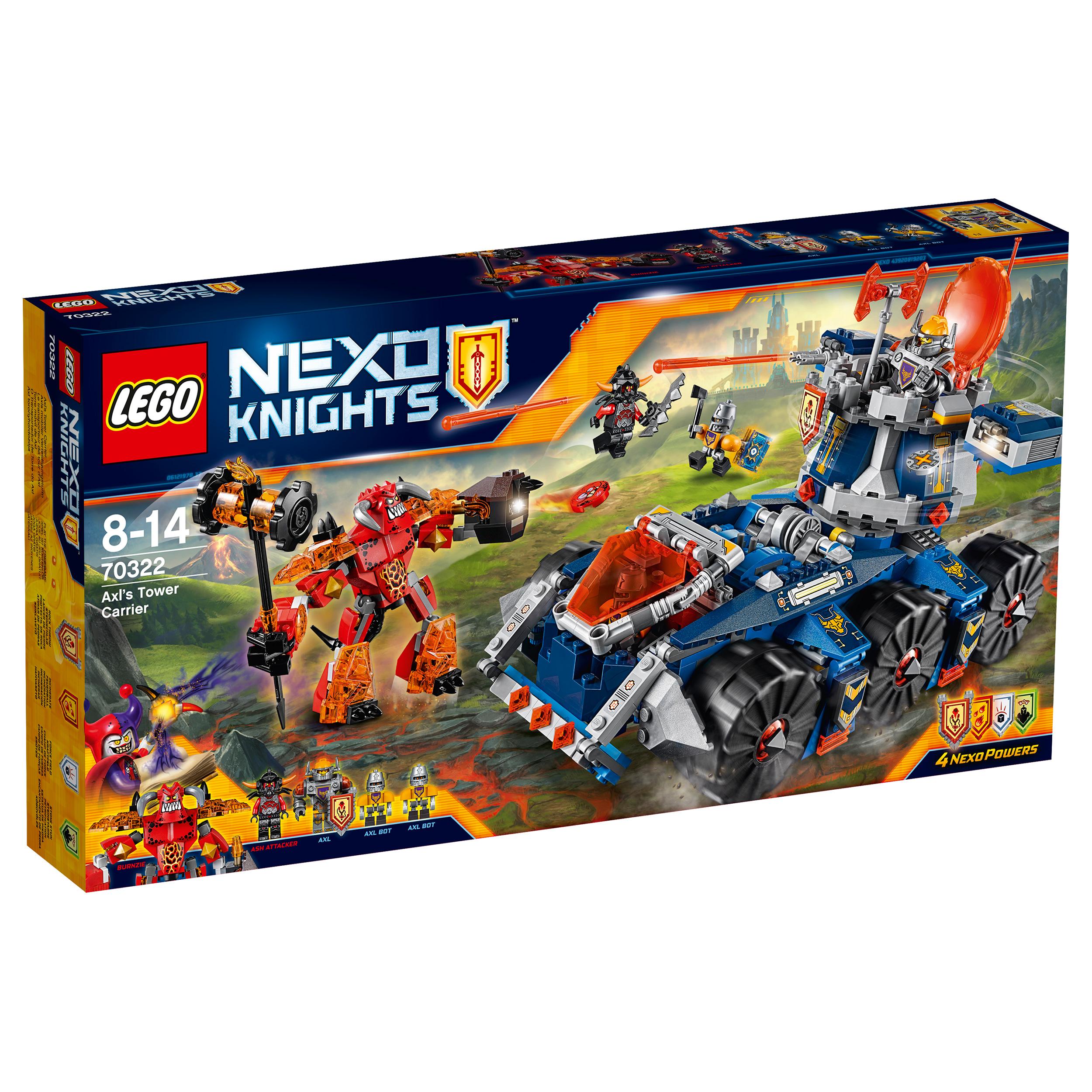 lego® nexo knights - transportorul lui axl (70322)