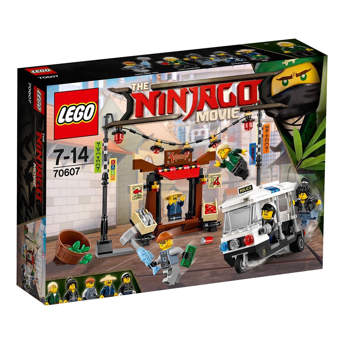 lego® ninjago - urmarirea din orasul ninjago (70607)