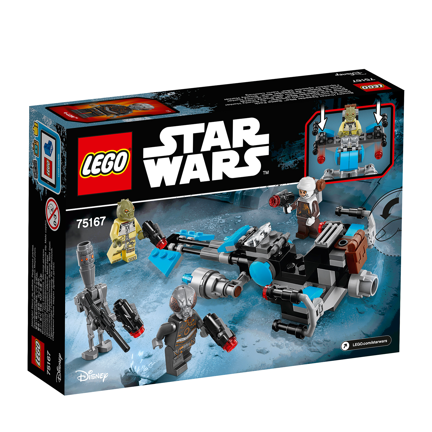 lego® star wars™ - motocicleta de viteza bounty hunter (75167)