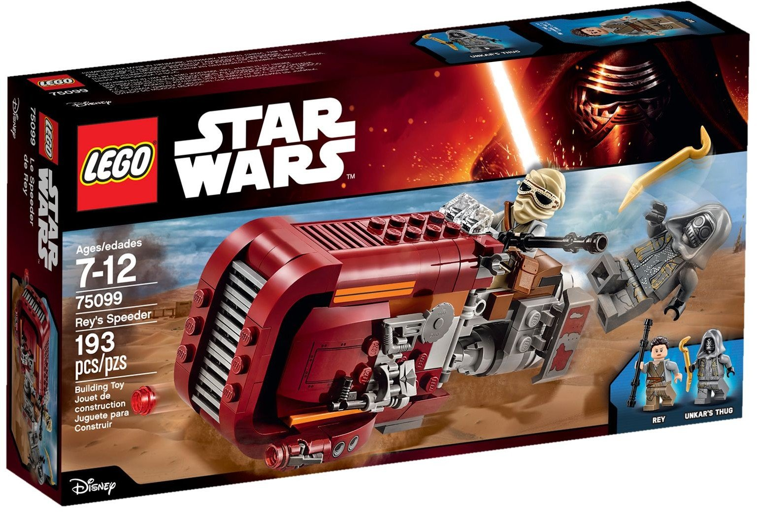 lego® star wars™ rey's speeder (75099)