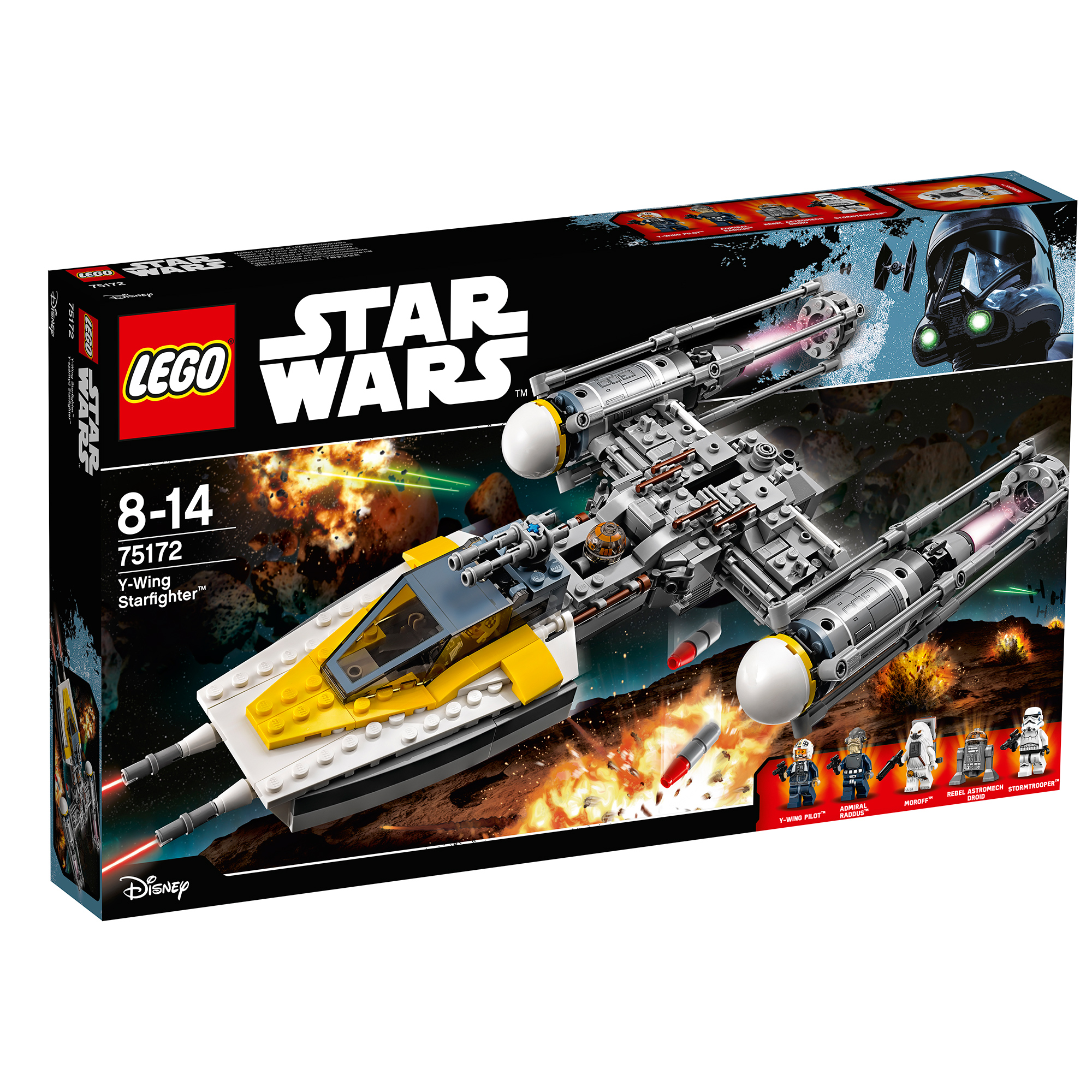 lego® star wars™ - y-wing starfighter (75172)