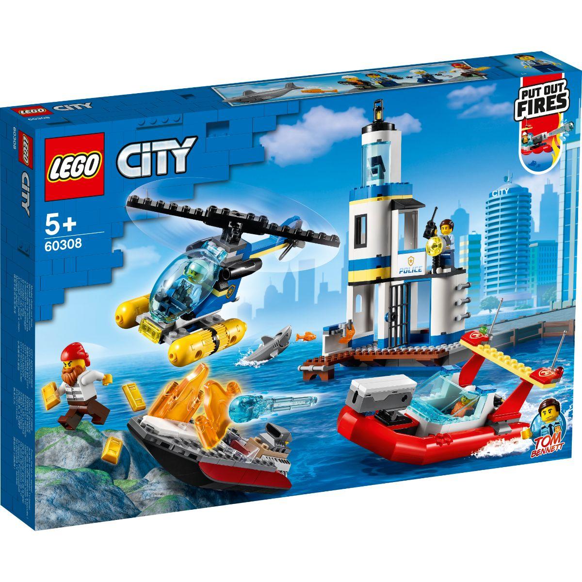 LEGO® City - Politia de pe litoral si misiune de pompieri (60309)