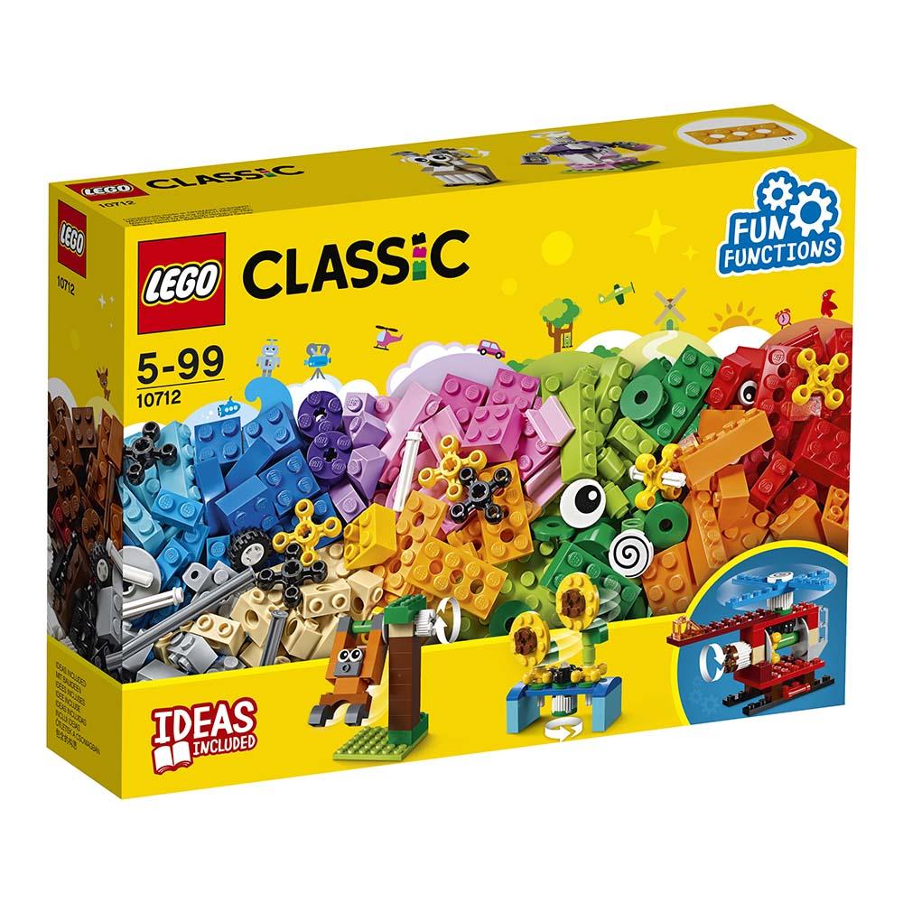 lego® classic - caramizi si roti variate (10712)
