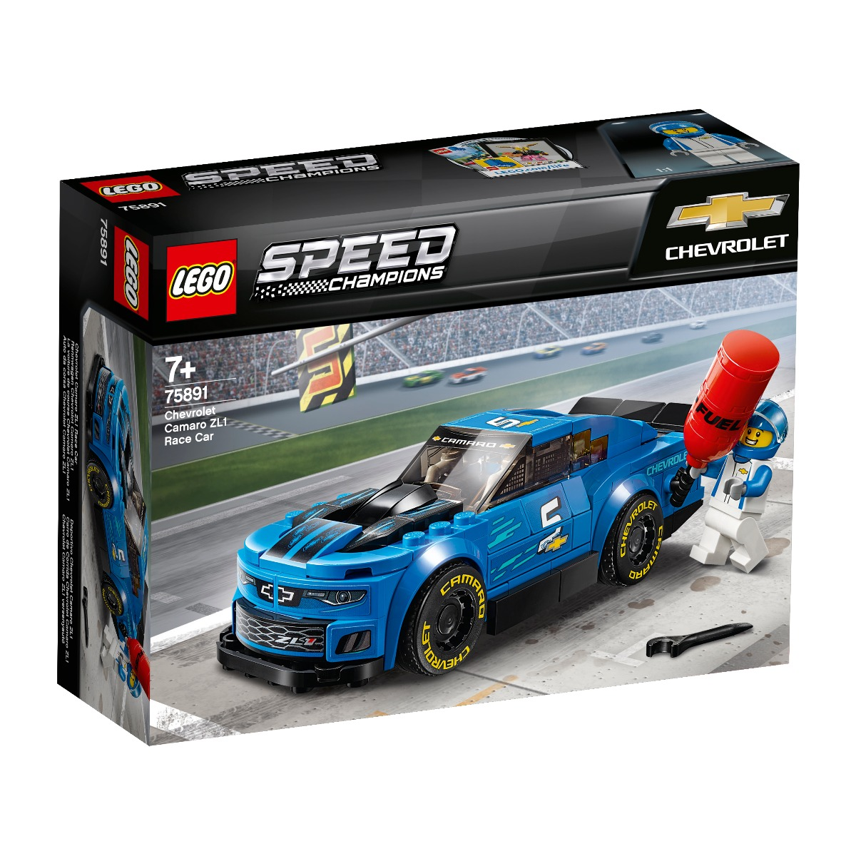 LEGO® Speed Champions - Masina de curse Chevrolet Camaro ZL1 (75891)