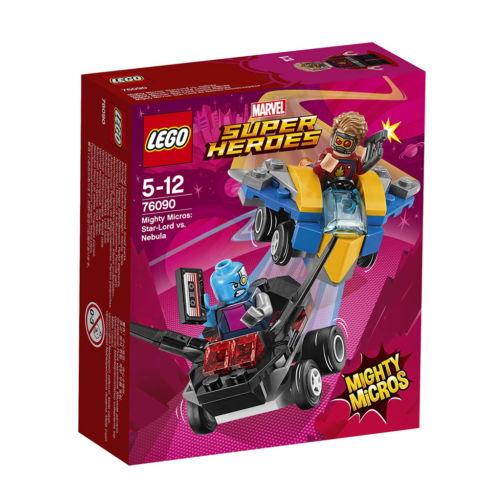 lego® super heroes mighty micros - star-lord contra nebula (76090)