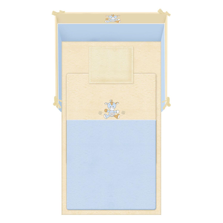 lenjerie de pat copii lorelli classic 5 piese jersey, blue