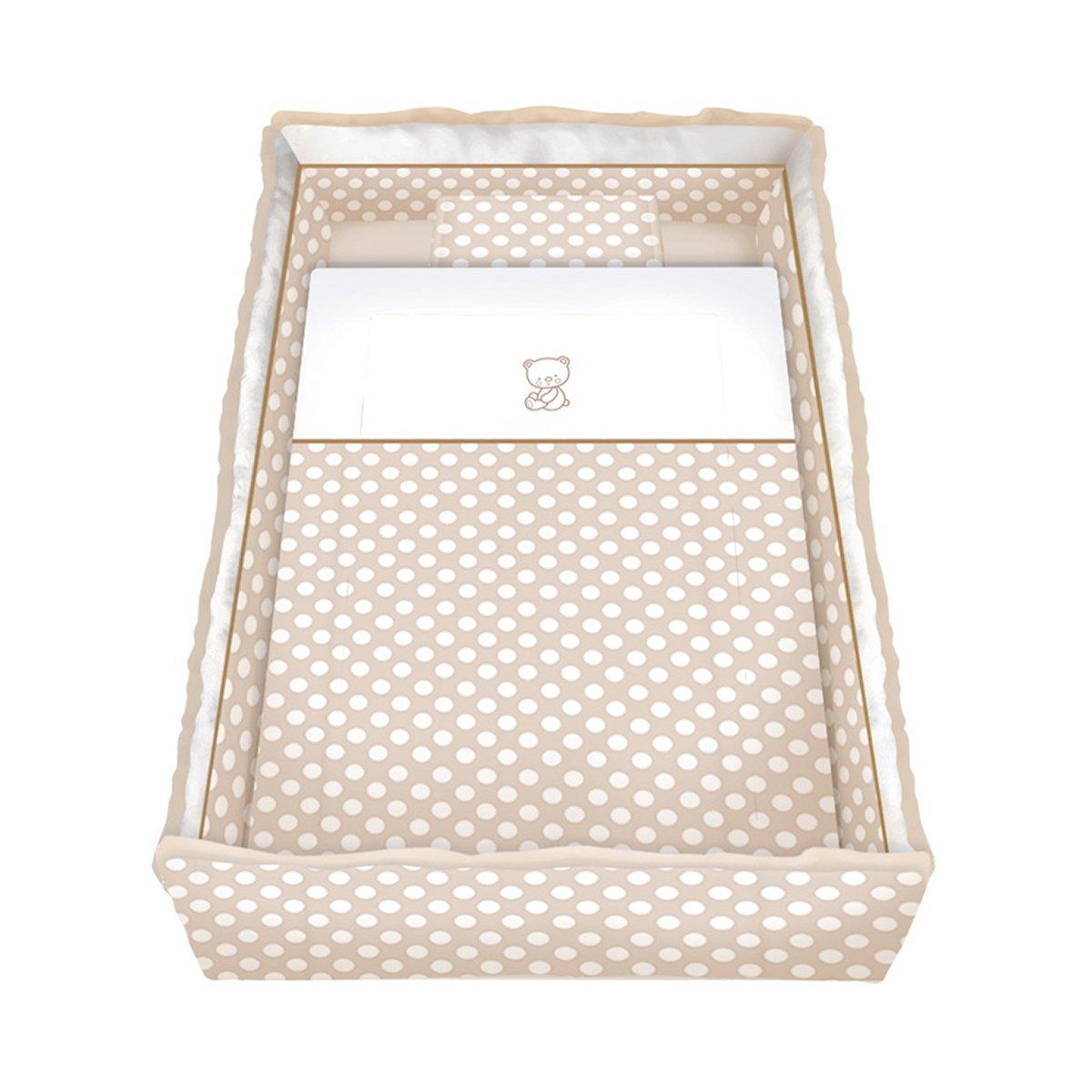 lenjerie de pat copii lorelli classic 7 piese lili, beige bears