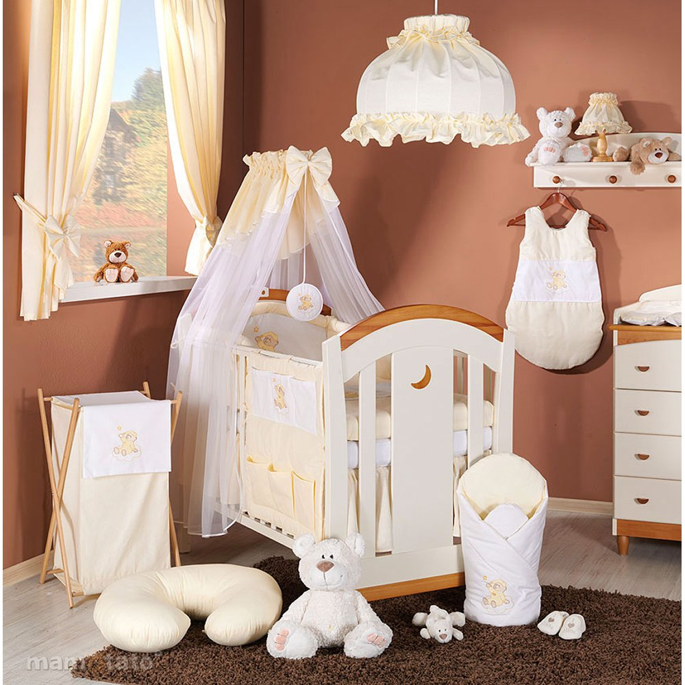 lenjerie de pat copii mamo-tato 3 piese - ursulet crem, 120 x 60 cm
