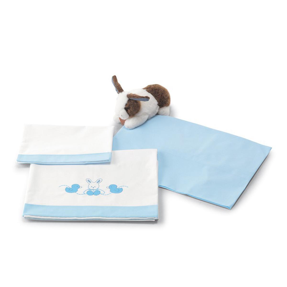 lenjerie de pat copii pali 3 piese tommy, azzurro