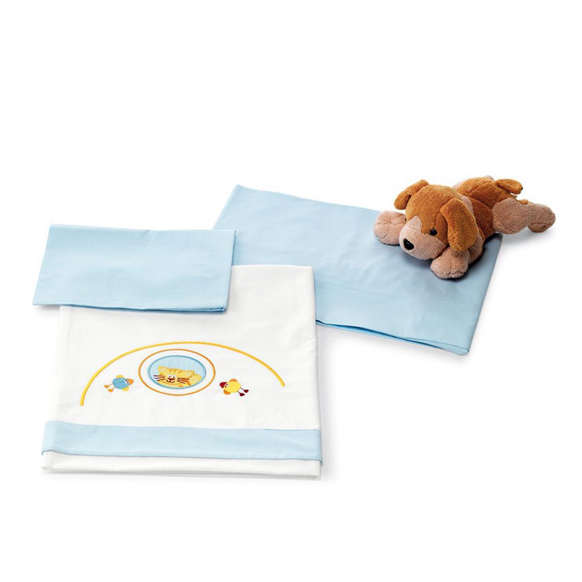 Lenjerie de pat copii Pali 3 piese Zenzero Azzurro