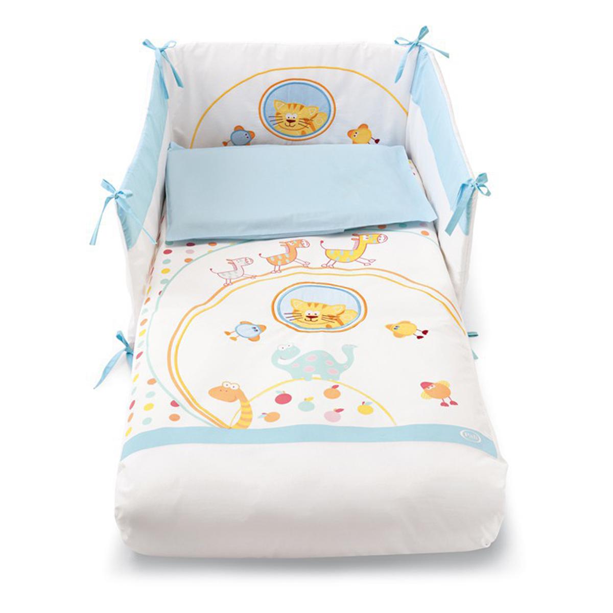 lenjerie de pat copii pali 4 piese zenzero - azzuro