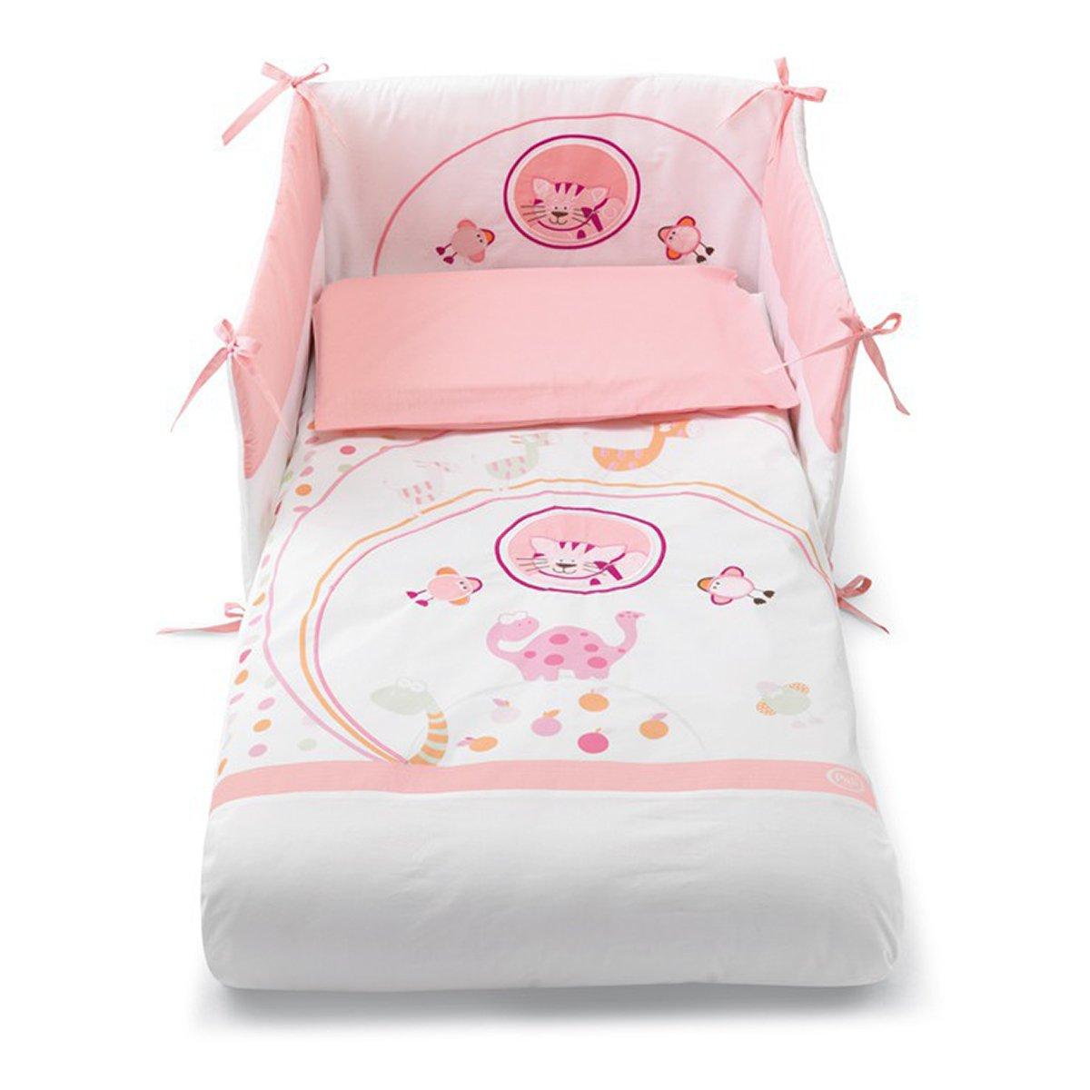 lenjerie de pat copii pali 4 piese zenzero, rosa