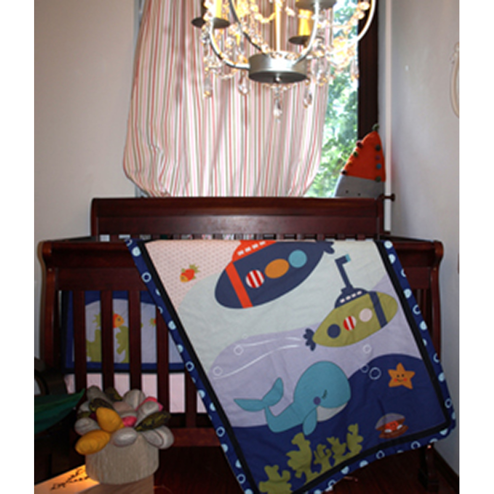 lenjerie de pat copii schimbul 3 - petrecere in apa, 4 piese, 120 x 60cm