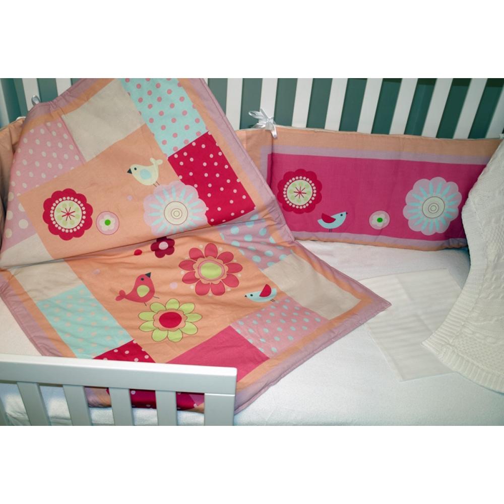 lenjerie de pat copii schimbul 3 - triluri dulci, 4 piese, 120 x 60cm