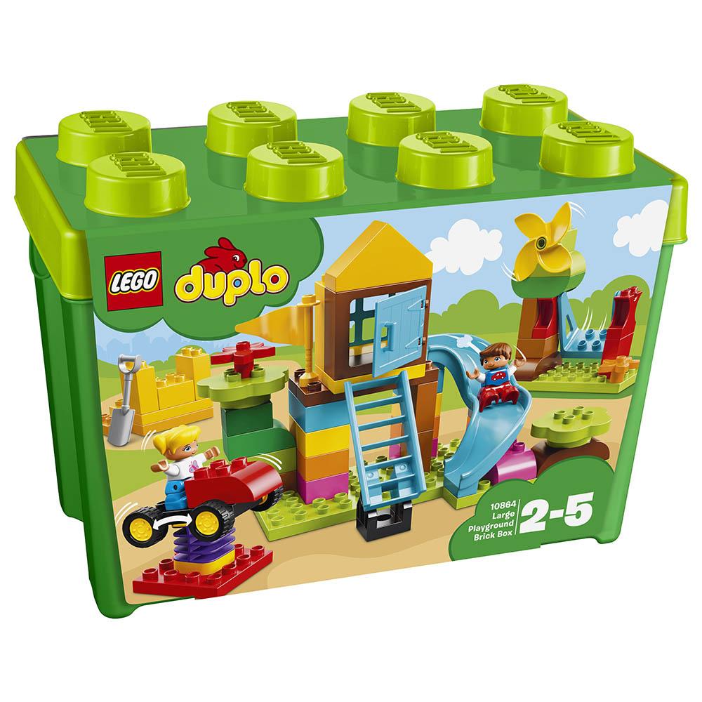 lego® duplo® - cutie mare de caramizi pentru terenul de joaca (10864)
