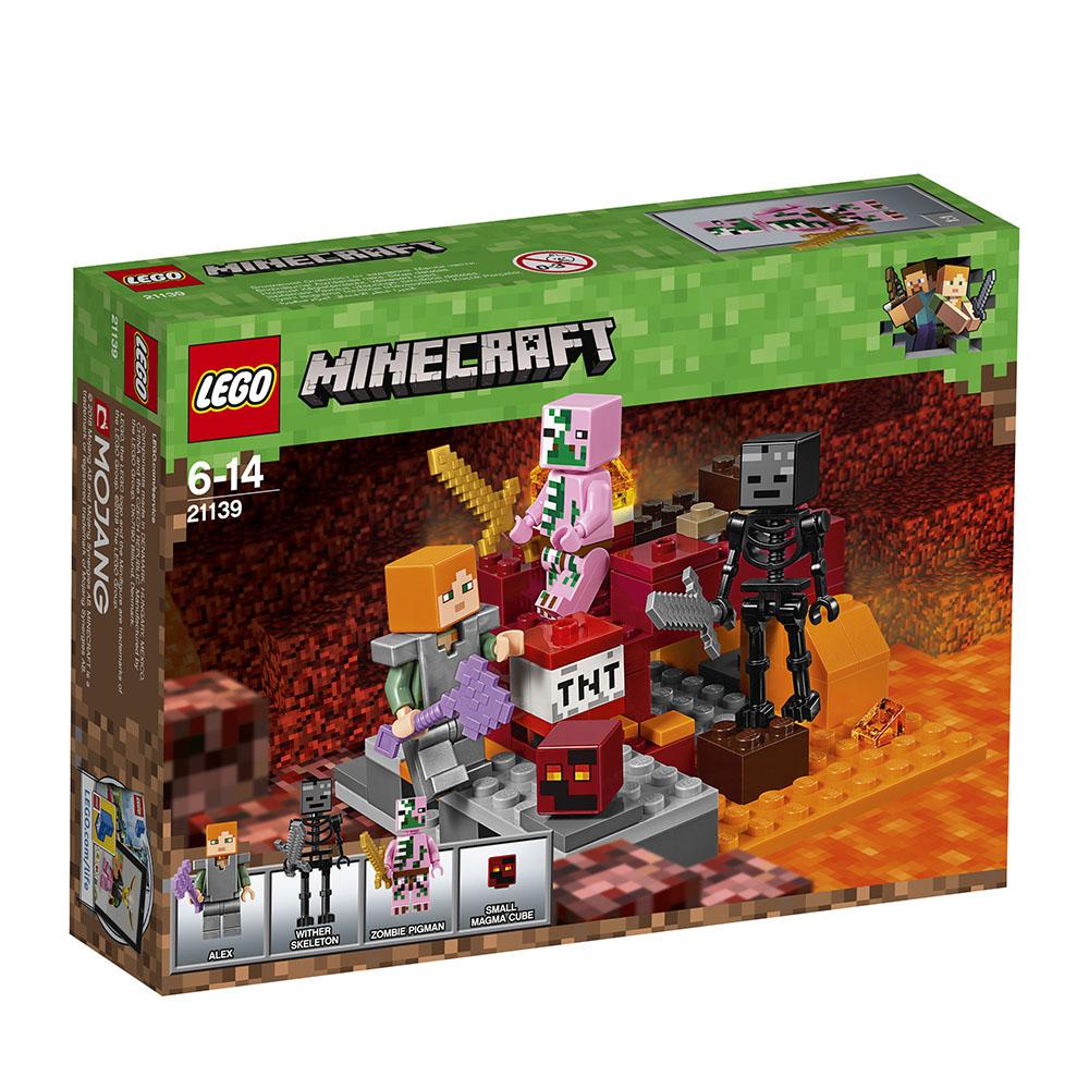 lego® minecraft™ - lupta nether (21139)